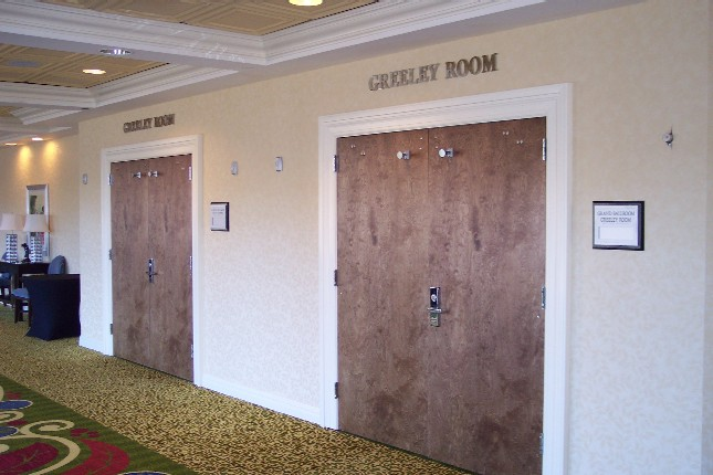 Renaissance Hotel Door Signage