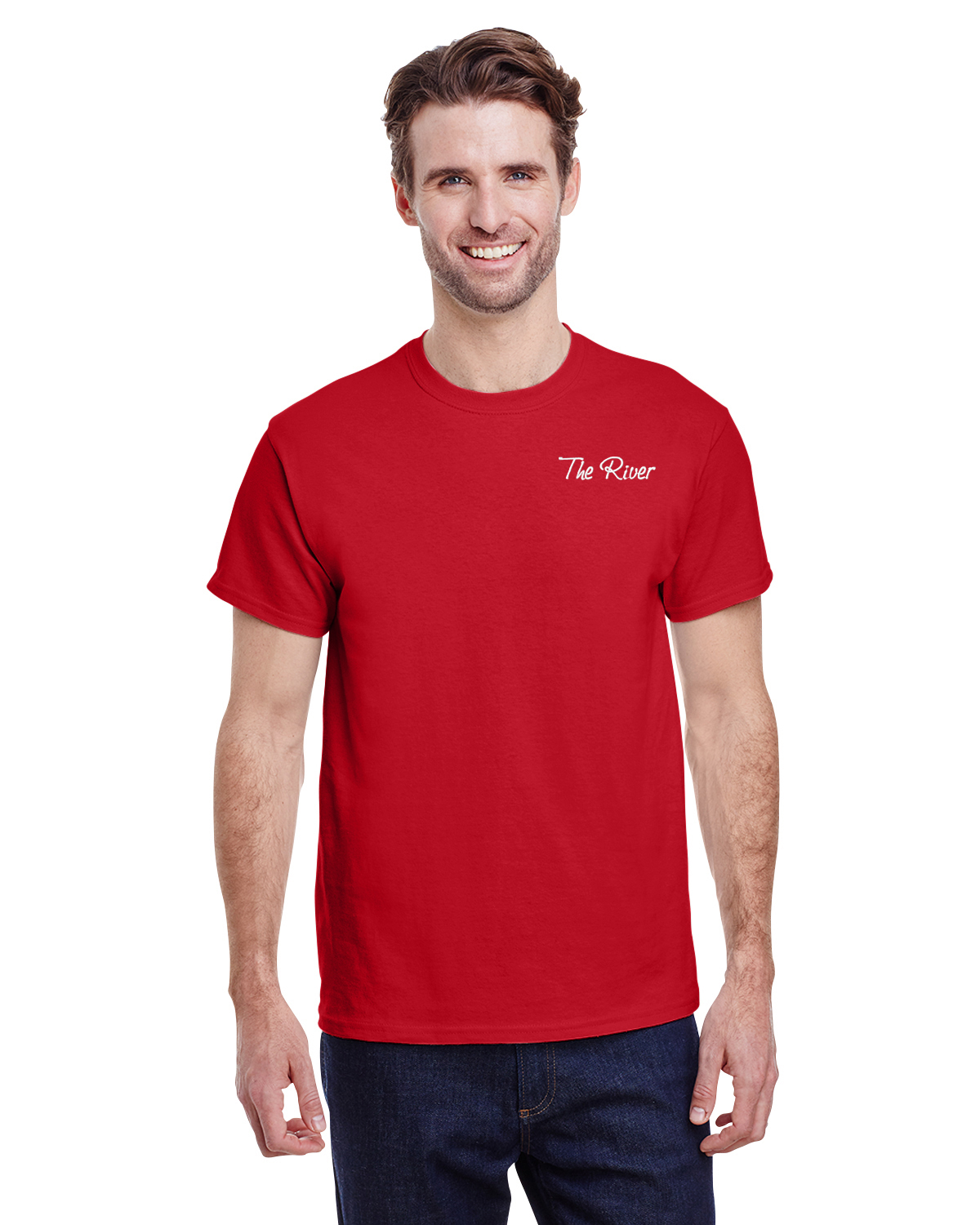 G200 Gildan Adult Ultra Cotton® 6 oz. T-Shirt Red