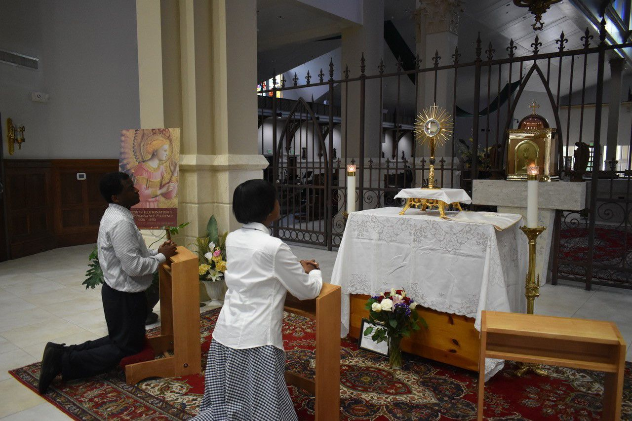 Adoration is the 'awesome presence' of Jesus