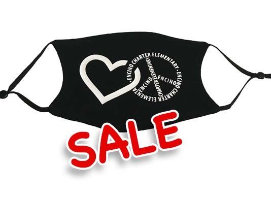 PEACE HEART - Adult Mask (Black)