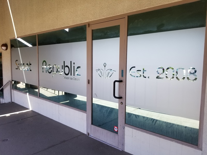 Scottsdale AZ Etched Vinyl Window Graphics