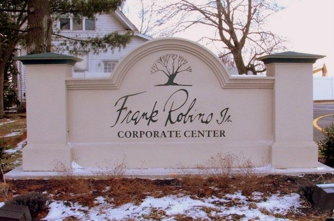 S28405 -  Monument Sign for Corporate Center, Carved Tree Logo
