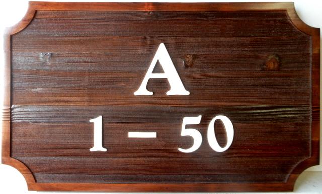 I18852- Cedar Apartment Number Wall Plaque