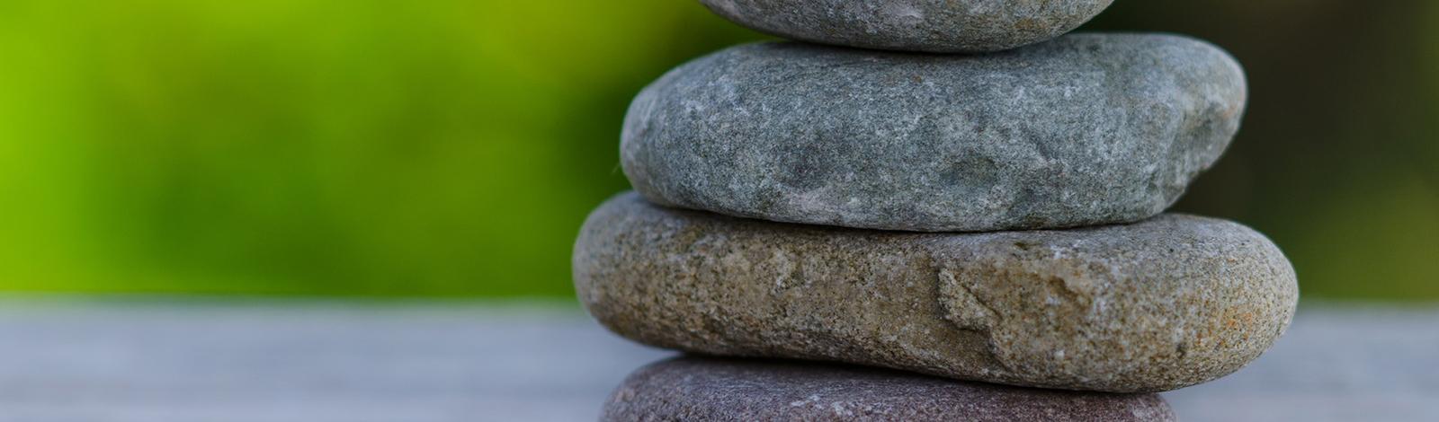Zen stacked stones