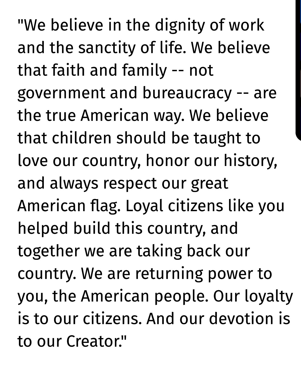 Speech of Donald Trump, Oct. 17, 2019