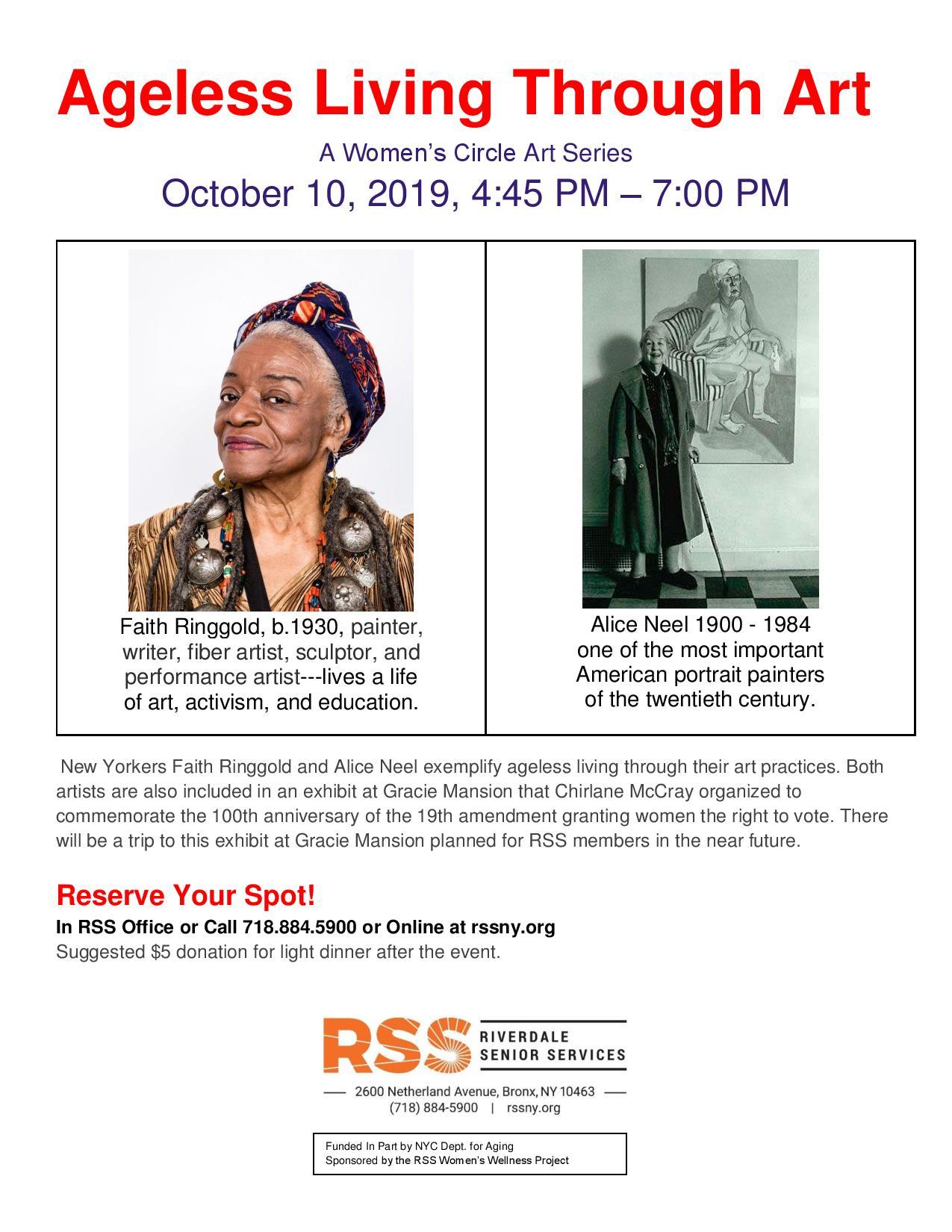 Ageless Living Through Art - A Women's Circle Event