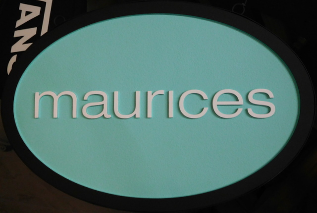 "SA28034 -  Carved Wood Sign for ""Maurices"" Store"
