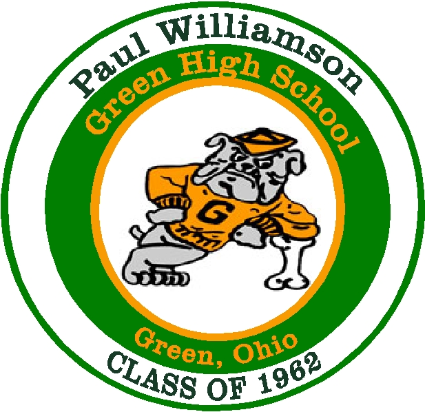 Y34745 - Carved 2.5D  Flat-Relief HDU Wall Plaque of the Logo (Bulldog) of Green High School