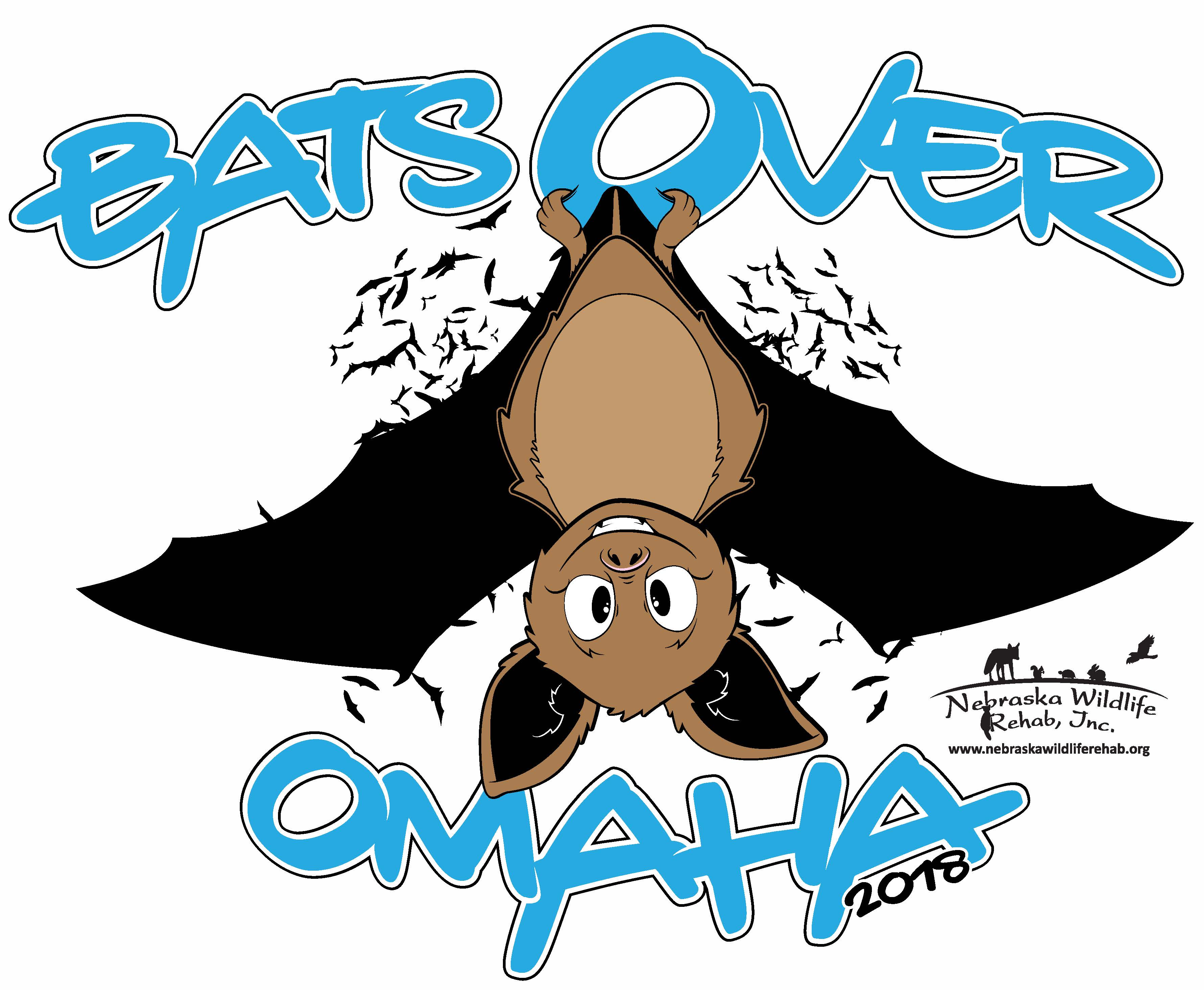 Bats Over Omaha Bat Release T-Shirt - 2018: Adult Medium, Red
