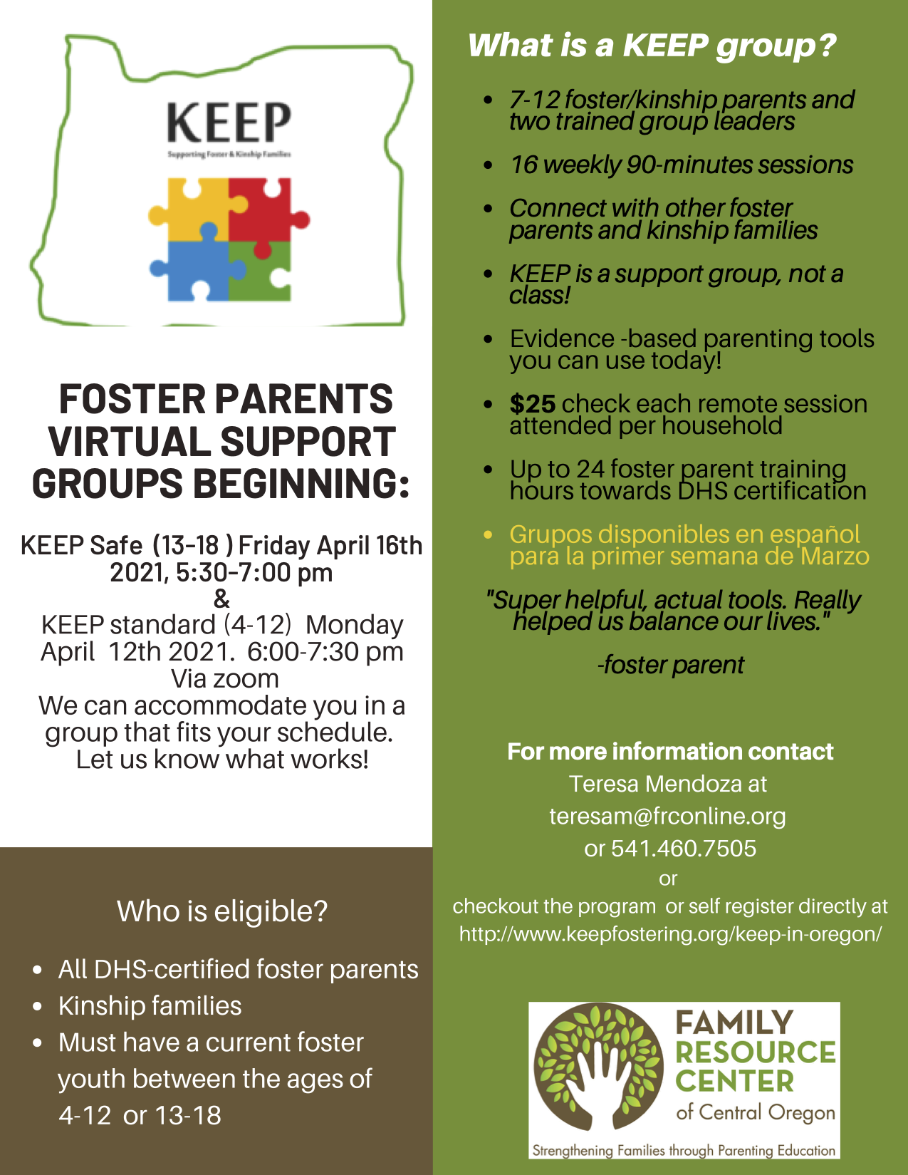 KEEP Safe - Parent Support Group (teens)
