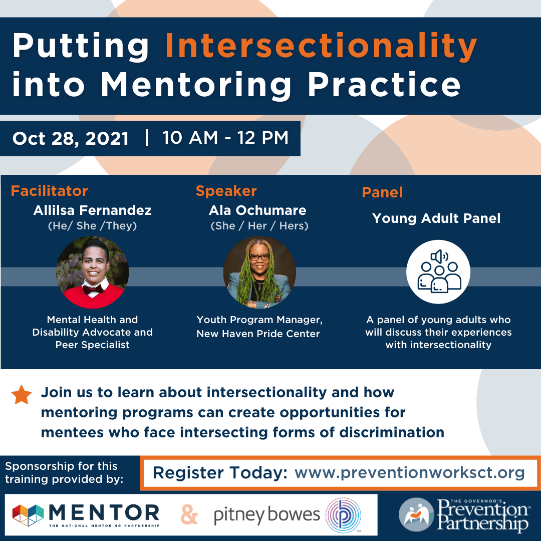Putting Intersectionality into Mentoring Practice Social Flyer
