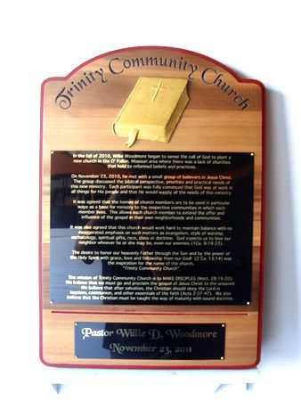 D13218 - Trinity Community Church Wooden Wall Plaque