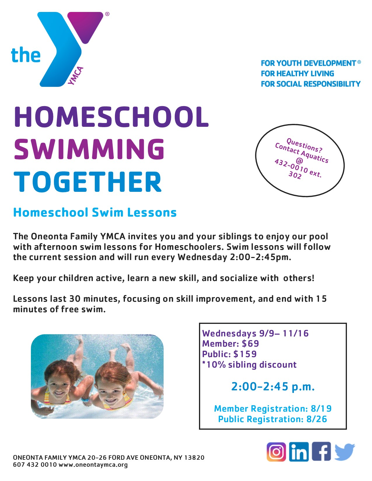 Homeschool Swim Lessons