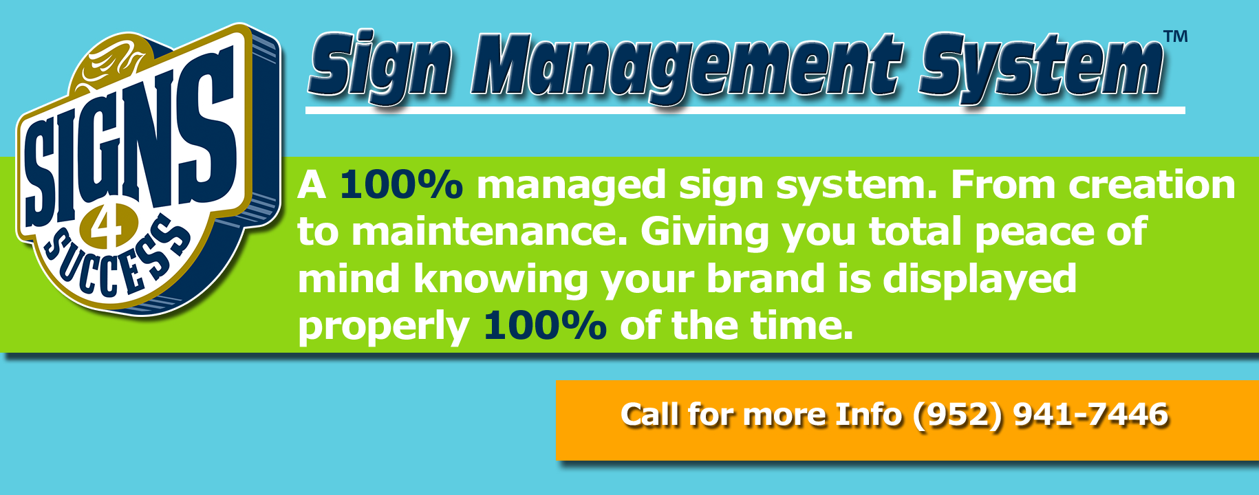 Our unique sign management system is great for property managers and real estate businesses