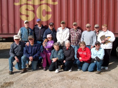 The group that loaded the container at Bottineau, ND warehouse for Liberia - March 2012