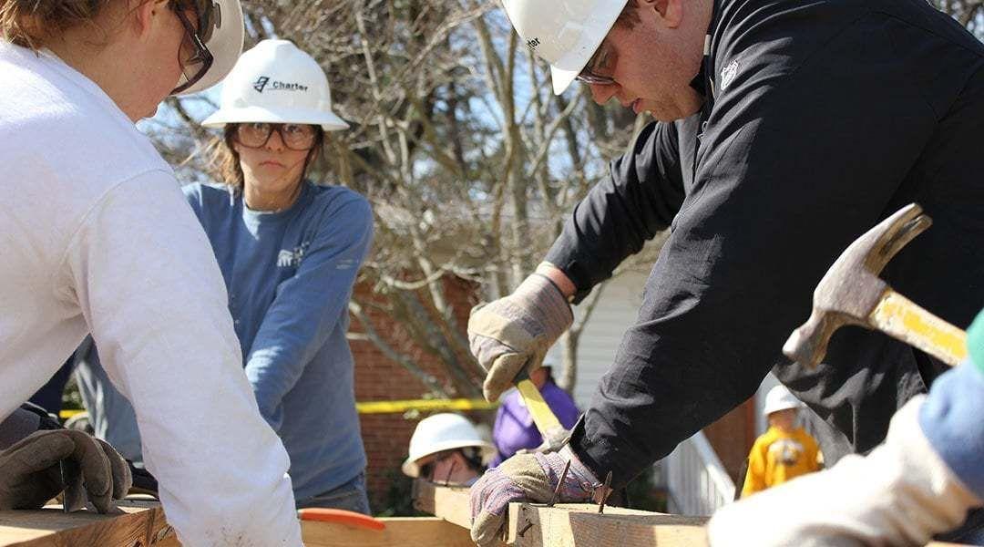 Construction Volunteers Working