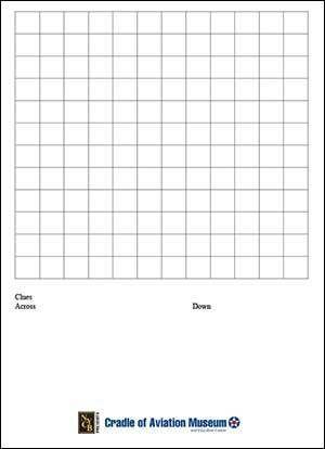 Aviation Crossword Word Search Blank 12x12 Grid