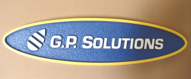 """SA28530 - Corporate Identity Wall Sign for the """"GP Solutions"""" Company."""