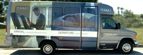 Vehicle Graphics- Shuttle Bus Wrap