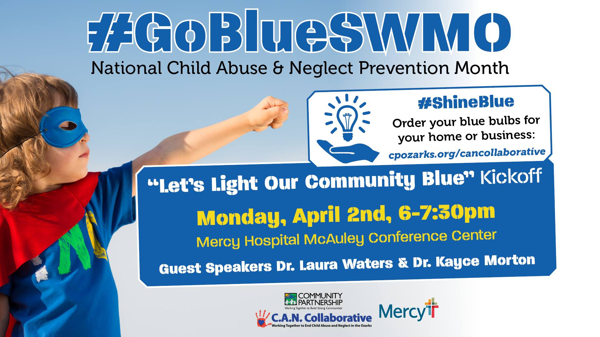 Let's Light Our Community Blue Kickoff