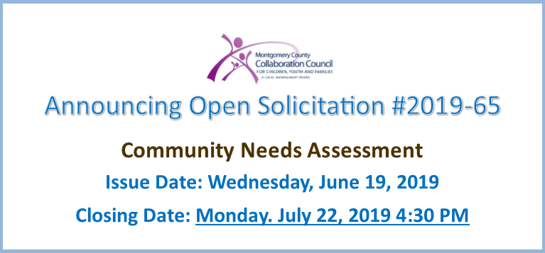 Open Solicitation #2019-65: Community Needs Assessment