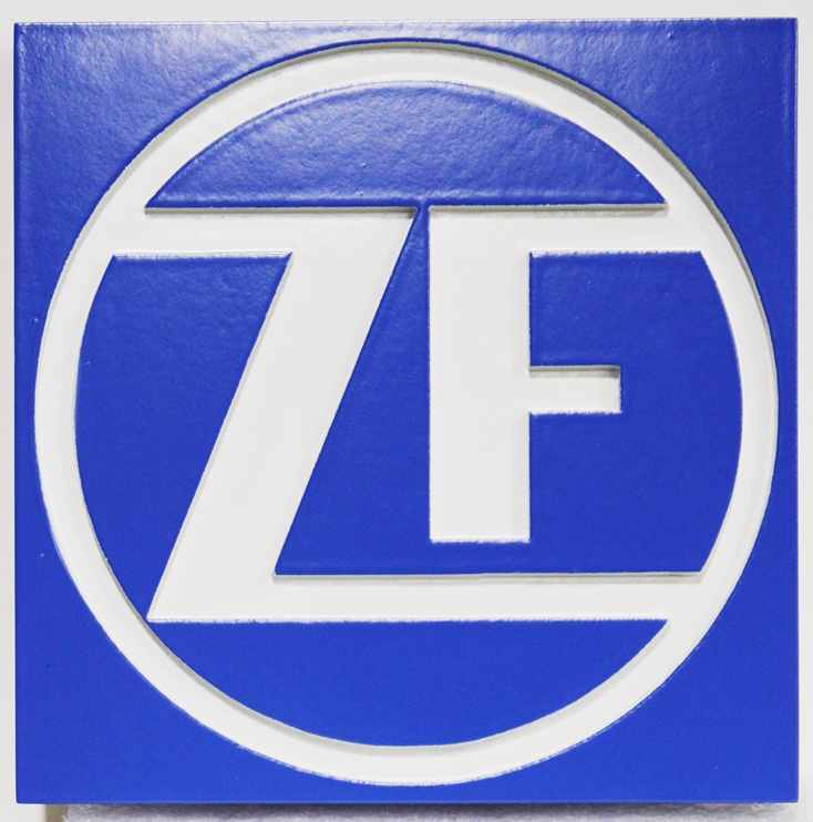 "S28137 - Carved Engraved HDU Sign  for the ""ZF"" Corporation"