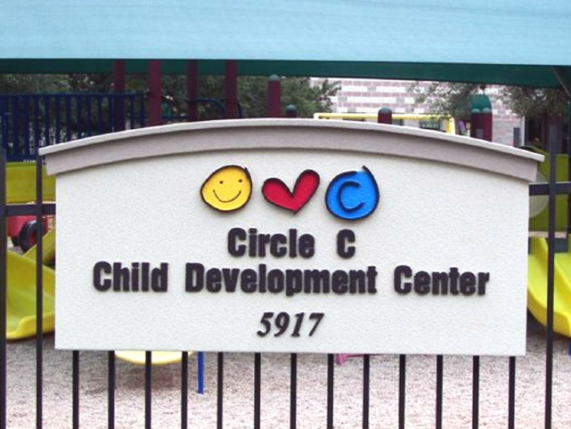 FA15911 - Child Development Center Pre-school EPS  Wall Sign