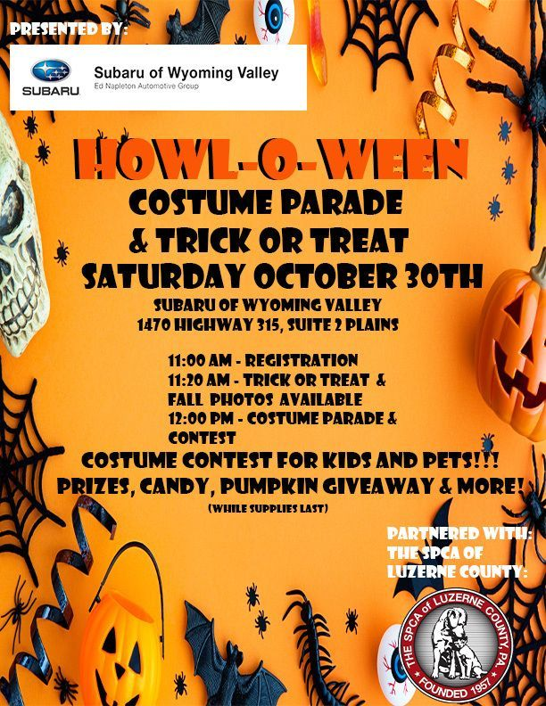 Howl-O-Ween Costume Parade & Tricke or Treat