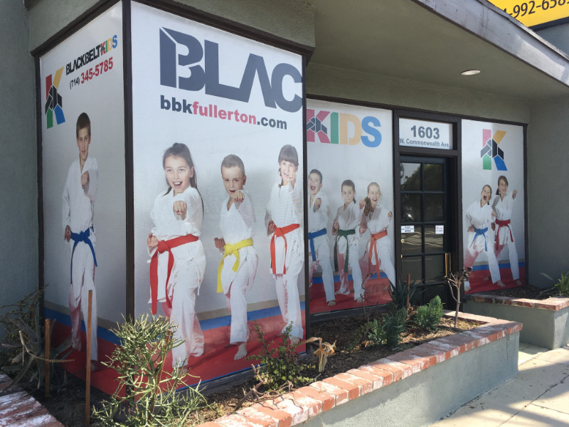 Vinyl Window Graphics | Martial Arts Studios | Fullerton CA
