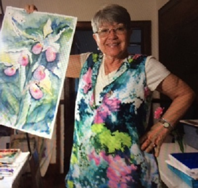 """Loosen Up with Confidence"" Watercolor Workshop with with Helga Flower"