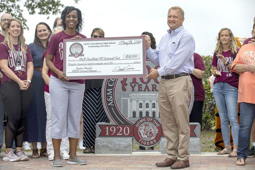 A&M Consolidated dedicates Centennial Plaza