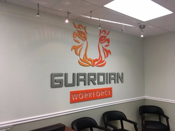 Three dimensional letter lobby signs in Orange County CA