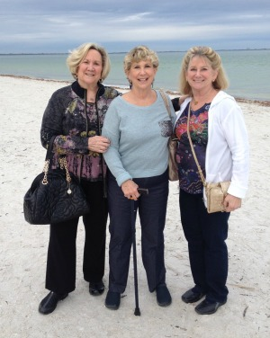 Lynn with her sisters at the beach in Florida