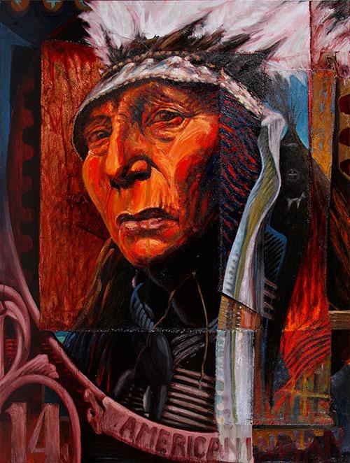 Address Unknown, oil on canvas