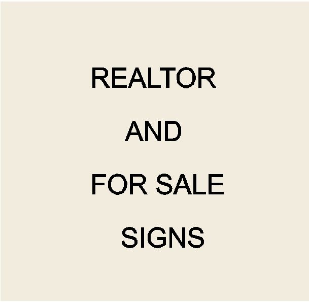C12270 - Real Estate Office, Realtor, and For Sale Signs & Plaques