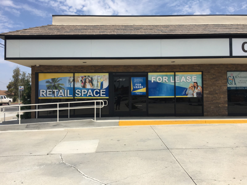 Retail Space and For Lease Window Graphics Anaheim CA