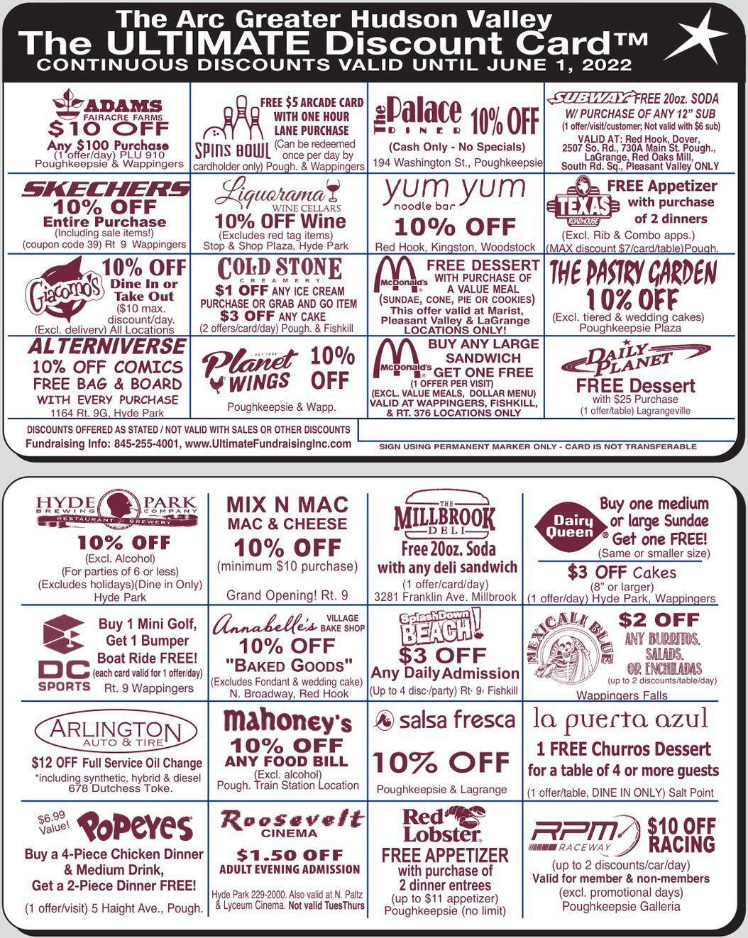 Dutchess County Discount Card