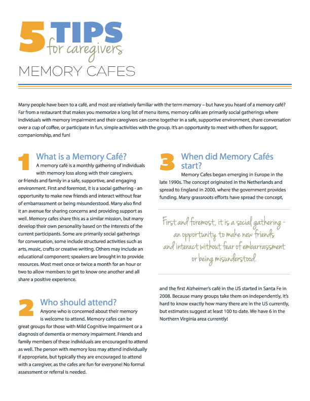 5 Tips for Memory Cafes