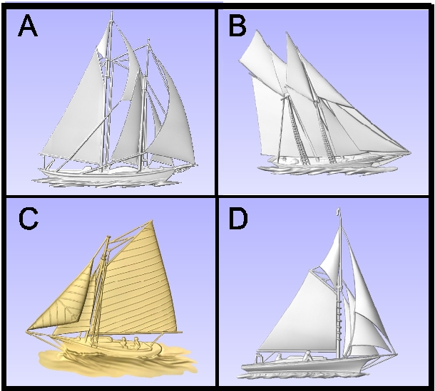L21904 - Carved Schooners and Sloops