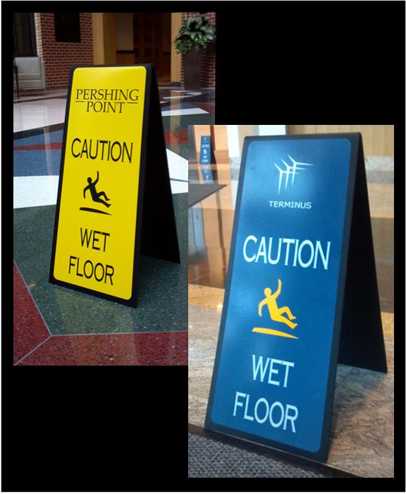 Custom Wet Floor Signs