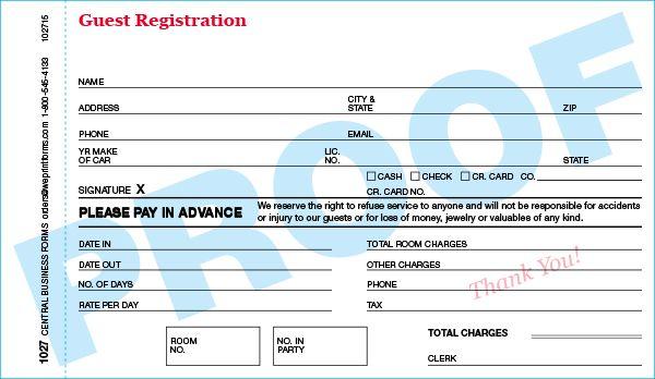 Standard 1027 Form