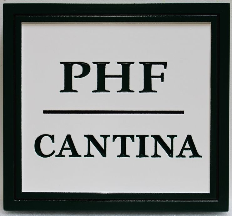 Q25023 - Carved 2.5-D HDU  Sign for the PHF Cantina