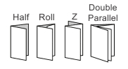 What types of folding do you offer?