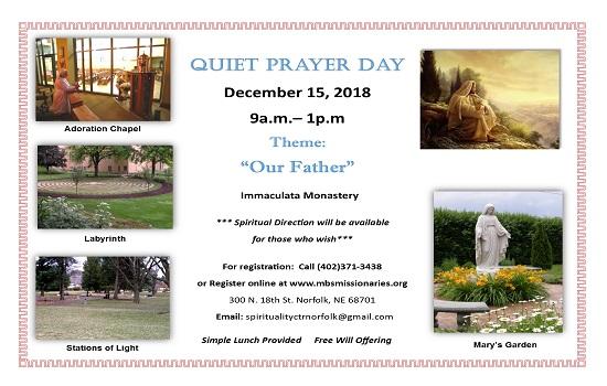 Quiet Prayer Day!