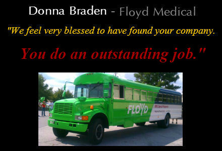 Floyd Medical | Ambulance Wraps | Custom Wraps | Rome, GA |