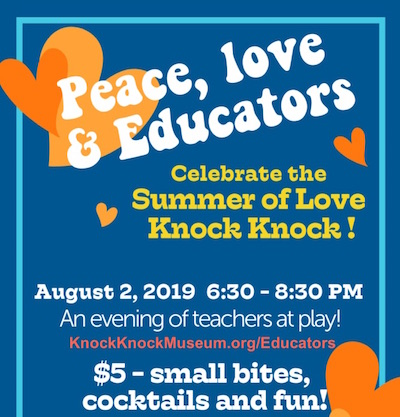 Knock Knock's Peace, Love, and PK-3 Educator Night - AUG 2