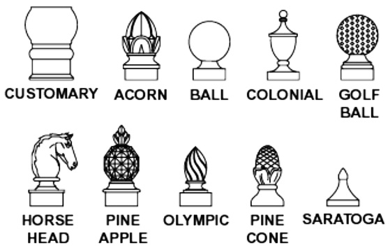 M4310 - Decorative Finials for Round Posts