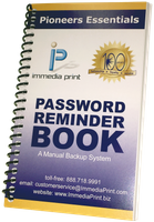 Password Reminder Book