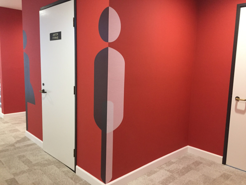 Restroom Wall Decals