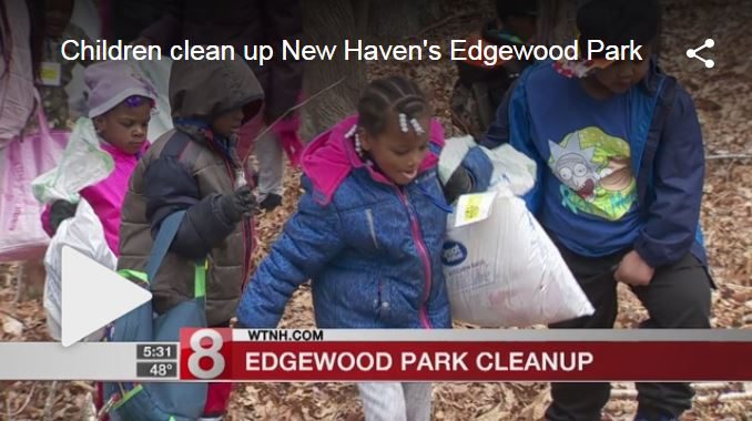 Children clean up New Haven Park